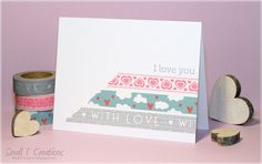 Small T Creations: Washi Tape Valentine's Card. Get these cute #washi tapes here: www.washitapes.nl