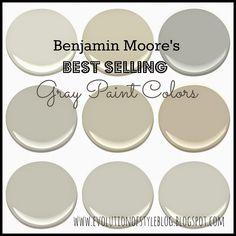 Benjamin Moore's Best Selling Grays