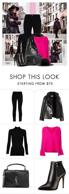 """""""Rev It Up: Road Trip Style"""" by bklana ❤ liked on Polyvore featuring STELLA McCARTNEY, H&M, Alaïa, N.Peal, Yves Saint Laurent, Casadei, Études, roadtrip and bklana"""