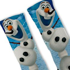 Olaf Frozen Customized Nike Elite Socks by FreshElites on Etsy Nike Shoes Cheap, Nike Free Shoes, Nike Shoes Outlet, Running Shoes Nike, Cheap Nike, Crazy Socks, My Socks, Cool Socks, Funny Socks
