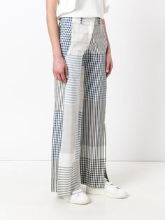 Dondup checked flared trousers