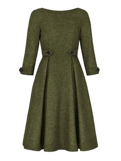 Gracy Q Victoria Dress Green Front The post Gracy Q Victoria Dress Green . - Gracy Q Victoria Dress Green Front The post Gracy Q Victoria Dress Green Front appeared first on Fa - Vintage Dresses, Vintage Outfits, Vintage Fashion, 1940s Outfits, Dress Outfits, Casual Dresses, Fashion Outfits, Green Dress Casual, Dresses Dresses