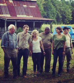 The gang at the farmhouse..