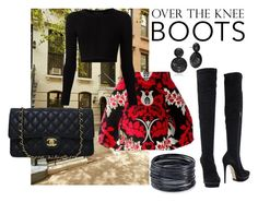 """""""Sidewalk chic"""" by mollylsanders ❤ liked on Polyvore featuring Dsquared2, Cushnie Et Ochs, Le Silla, Chanel and ABS by Allen Schwartz"""