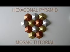 DIY Paper Wall Art with Origami Pyramid Pixels - Easy Tutorial and Decorating Ideas Diy Origami, Origami Wall Art, Origami Modular, Origami Lamp, Origami Templates, Paper Crafts Origami, Diy Paper, Box Templates, Paper Wall Art