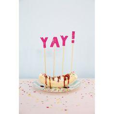 Pink Cake Topper Yay ! By Meri Meri