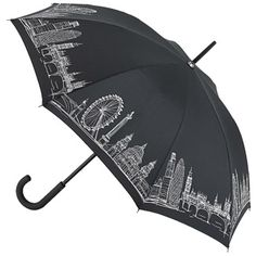 For my dear DIL - Fulton Kensington Umbrella Walking Length - London Scene Birdcage Umbrella, Big Umbrella, Folding Umbrella, Outdoor Umbrella, Under My Umbrella, Beach Umbrella, Umbrellas For Sale, Cute Umbrellas, Umbrellas Parasols