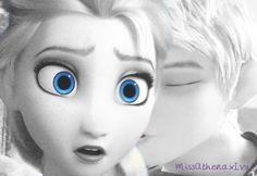 Jack Frost and Elsa Elsa Frozen, Disney And Dreamworks, Disney Pixar, Dark Jack Frost, Disney Movies, Disney Characters, Disney Crossovers, Disney Princesses, Jake Frost
