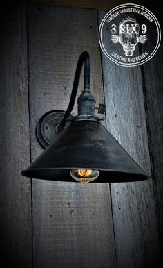 Industrial Grunge Series Wall Sconce Engine House by 8SIX9Design