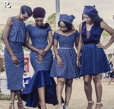 African Shweshwe Fashion & Traditional Clothing – African Fashion Dresses - African Styles for Ladies Modern African Print Dresses, Long African Dresses, African Fashion Dresses, African Clothes, African Bridesmaid Dresses, African Wedding Attire, African Attire, African Wear, African Style