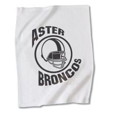 Show off your team spirit with this brand-boosting towel!