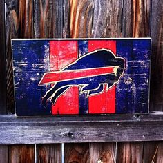 Buffalo Bills Team Logo Wooden Wall Hanging by MegAndMosClubhouse