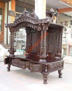 Code-48 Wooden Carved Teakwood Temple / Mandir, wooden Temple Wooden Temple…