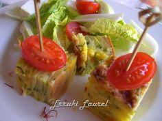 Pastel de calabacín al azafrán y queso
