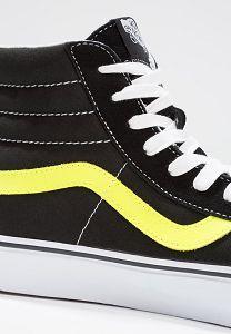 e4f777650cde29 Vans Shoes Online Sale   Vans Sk8 Reissue High-Top Trainers - Black Neon