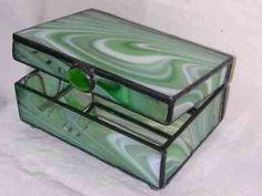 Free Pattern Japanese Iris Box stained glass Pinterest