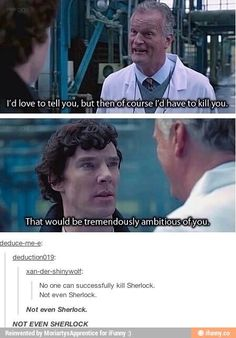 No one can kill Sherlock not even himself