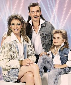 Awesome 80s family portrait. We all had mullets and looked surprised in photos, lol.