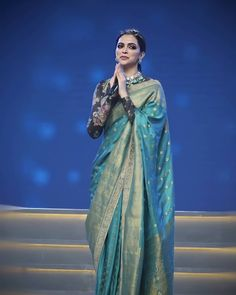 Deepika Padukone Looks Royal As She Decks Up In Sabyasachi Saree For Reliance Fo. - Deepika Padukone Looks Royal As She Decks Up In Sabyasachi Saree For Reliance Foundation 10 Year An - Indian Bridal Outfits, Indian Bridal Fashion, Indian Designer Outfits, Sabyasachi Sarees, Bollywood Saree, Indian Sarees, Banarsi Saree, Deepika Padukone Saree, Deepika In Saree