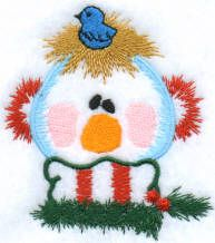 Threadsketches' set Twinkie Twigs - Christmas machine embroidery design, snowman and bird