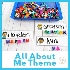 Spell Your Name- All About Me Theme for Preschoolers All About Me- Preschool Theme What is a better theme for little ones, them themselves! :) This All About Me theme is filled with math, literacy, and… All About Me Eyfs, All About Me Topic, All About Me Crafts, All About Me Art, Preschool Lesson Plans, Preschool Crafts, All About Me Activities For Preschoolers, Preschool Family Theme, Preschool Printables