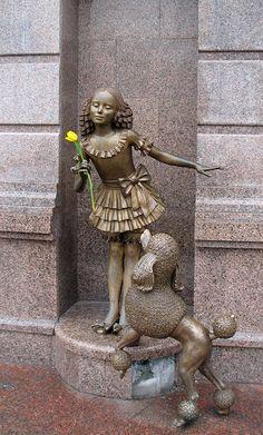 Kiev Ukraine Poodle statue
