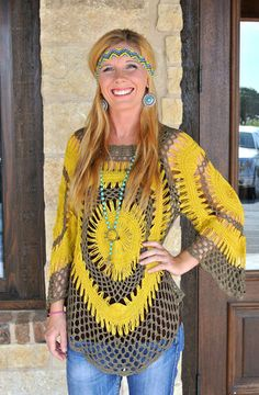We love this crocheted top, $44
