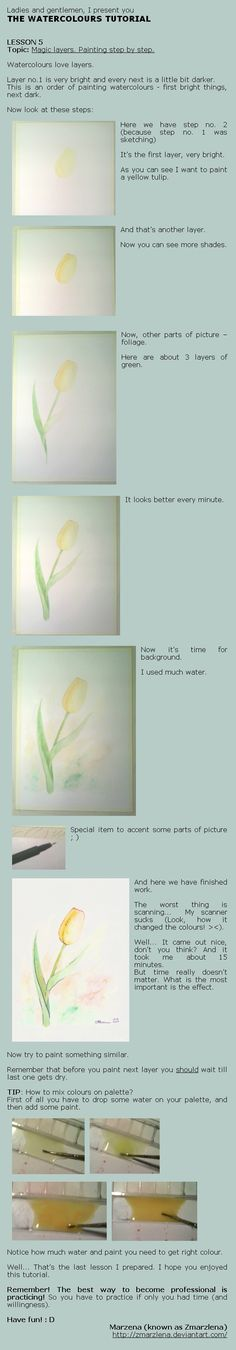 Watercolours tutorial lesson 5 by ~Zmarzlena