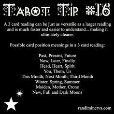 Tarot Tip 16: Three Card Readings | Randi Minerva