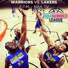 """We've heard """"Let's Go Warriors"""" chants in Vegas, and maybe tonight we'll hear #DubNation shouting #BeatLA as the #Warriors take on the Lakers tonight (7pm on NBA TV) in the #NBASummerLeague quarterfinals."""