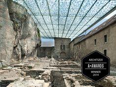 Couverture des ruines archéologiques de l'abbaye de st-maurice - Savioz & Fabrizzi