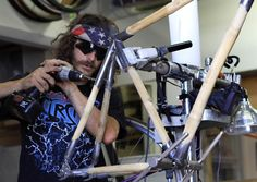 Panda Bicycles frame being built in Fort Collins, CO.     #bicycle #bamboo #panda