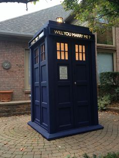 Doctor Who fan proposes to girlfriend with epic homemade TARDIS