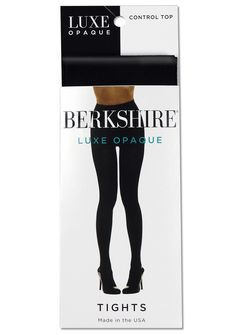 08c5e8829e0 Berkshire Women s Luxe Opaque Control Top Tights Black