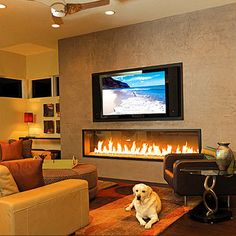 Modern Fireplace And Tv Wall Design, Pictures, Remodel, Decor and Ideas