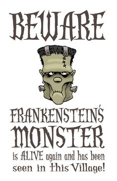 Free Frankenstein Halloween Printable #frankenstein #halloween #printables
