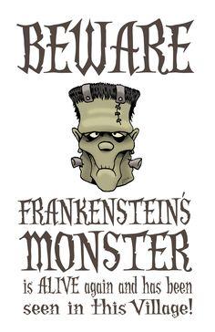 Free Frankenstein Halloween Printable #frankenstein #halloween #printables