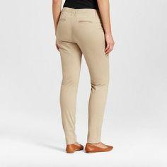 Women's Skinny Chino Pants - Merona Vintage Khaki 14