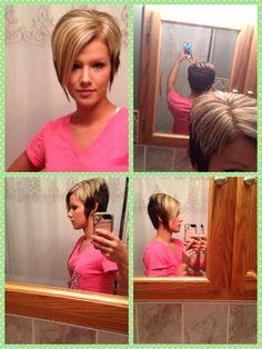 Asymmetrical short bob haircut I love it!!! :)