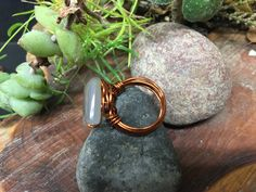 Handmade Wire Wrapped Natural Stone Ring