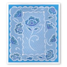 Lace Flowers & Netting Square Groovi Plates (Set of – Claritystamp Art And Craft Design, Artwork Design, Easy Arts And Crafts, Crafts To Make, Barbara Gray Blog, Parchment Cards, Vellum Paper, Lace Flowers, Plate Sets