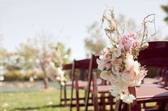flower arrangement for the pews
