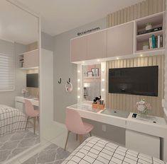 Room Design Bedroom, Girl Bedroom Designs, Room Ideas Bedroom, Home Room Design, Small Room Bedroom, Study Room Decor, Bedroom Decor For Teen Girls, Small Room Design, Stylish Bedroom