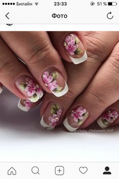 Concert Clothes, George Strait, Flower Nails, Nail Art, French, Flowers, Ideas, Design, Work Nails
