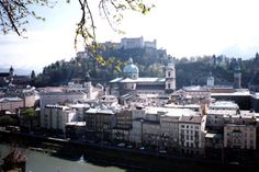 The city of Salzburg, Austria - easy to reach from the UK by train!