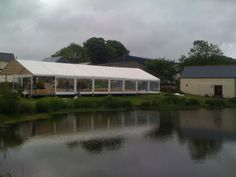 #Party by the #lake. A great setting for an #event in a Peninsula #marquee