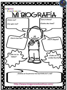 Autobiografía para niños Primaria y Primer Grado (1) - Imagenes Educativas