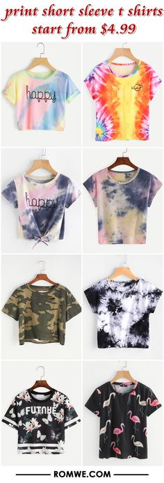 print short sleeve t shirts from $4.99