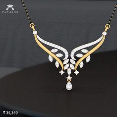 Striking yet simple bani diamond mangalsutra.  #papilior #papiliormangalsutra