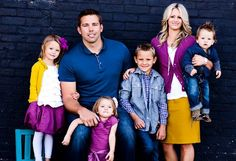 family outfit ideas... plum, navy & mustard